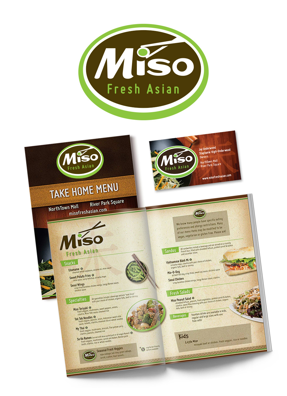 Miso Fresh Asian branding