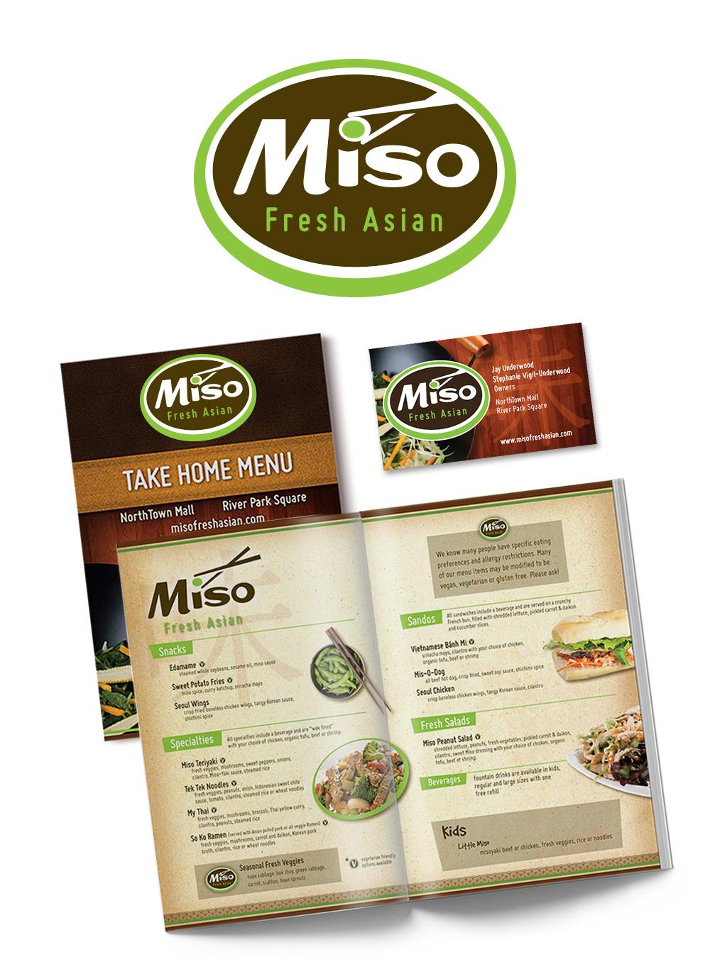 Miso Fresh Asian branding