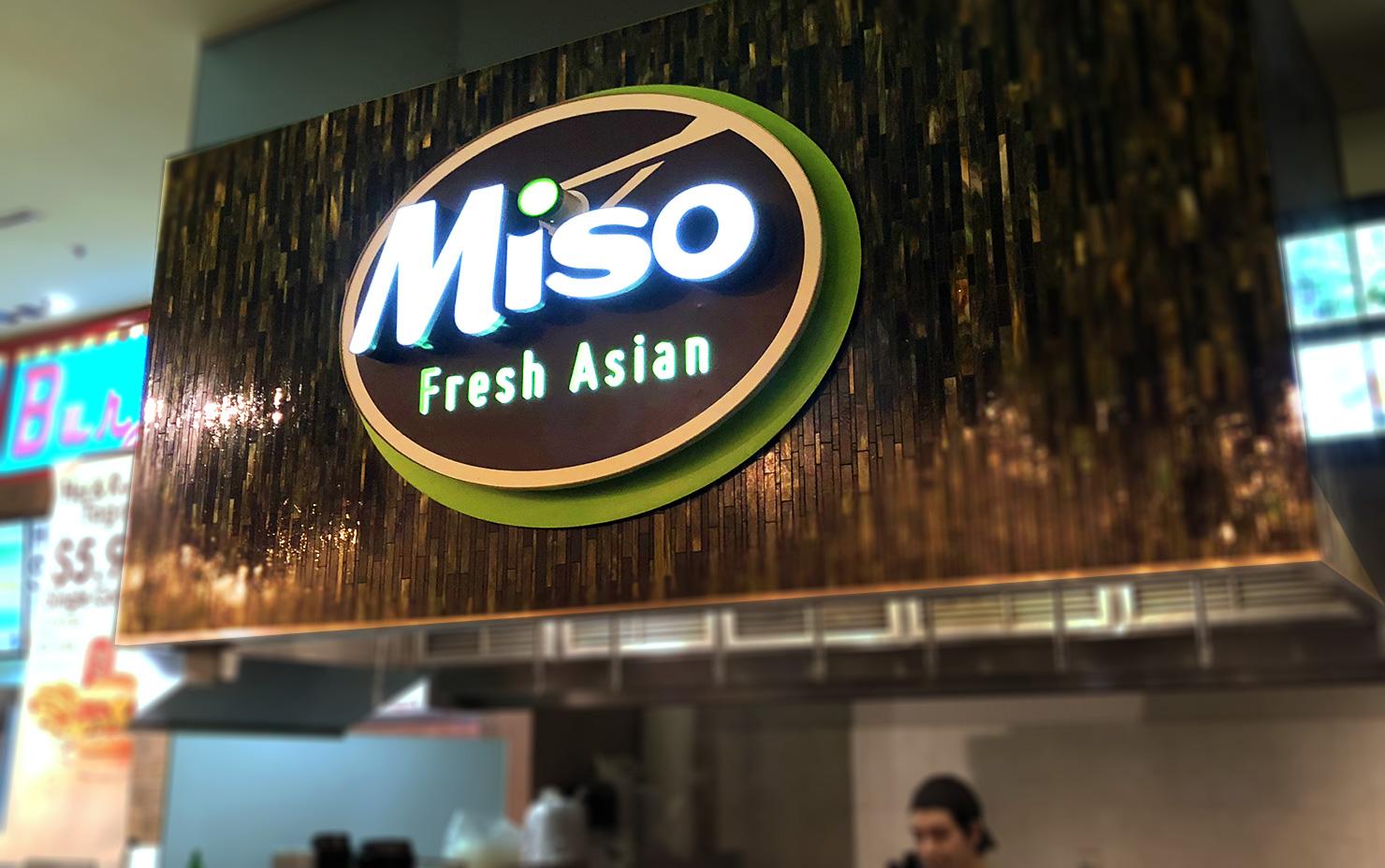 Miso Fresh Asian signage