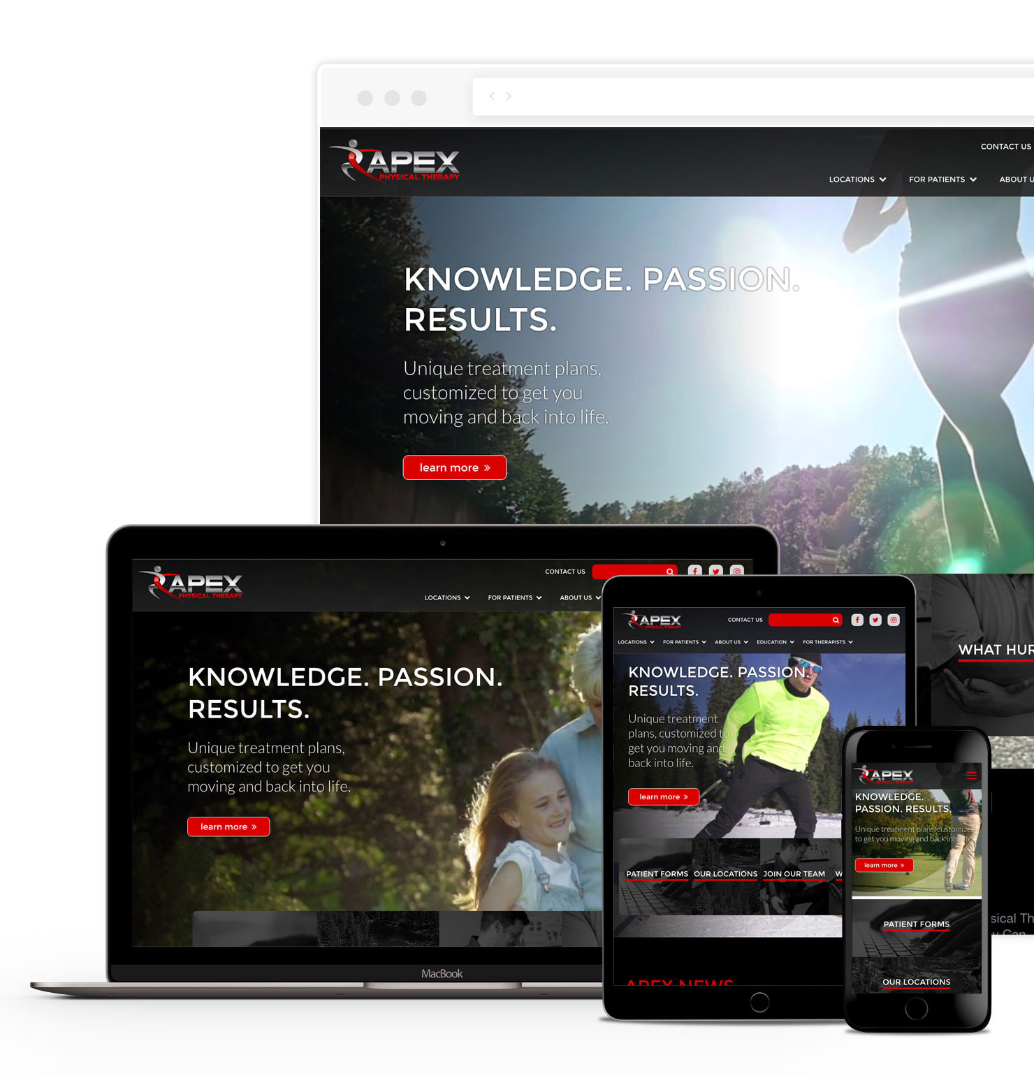 Apex Physical Therapy Web Design
