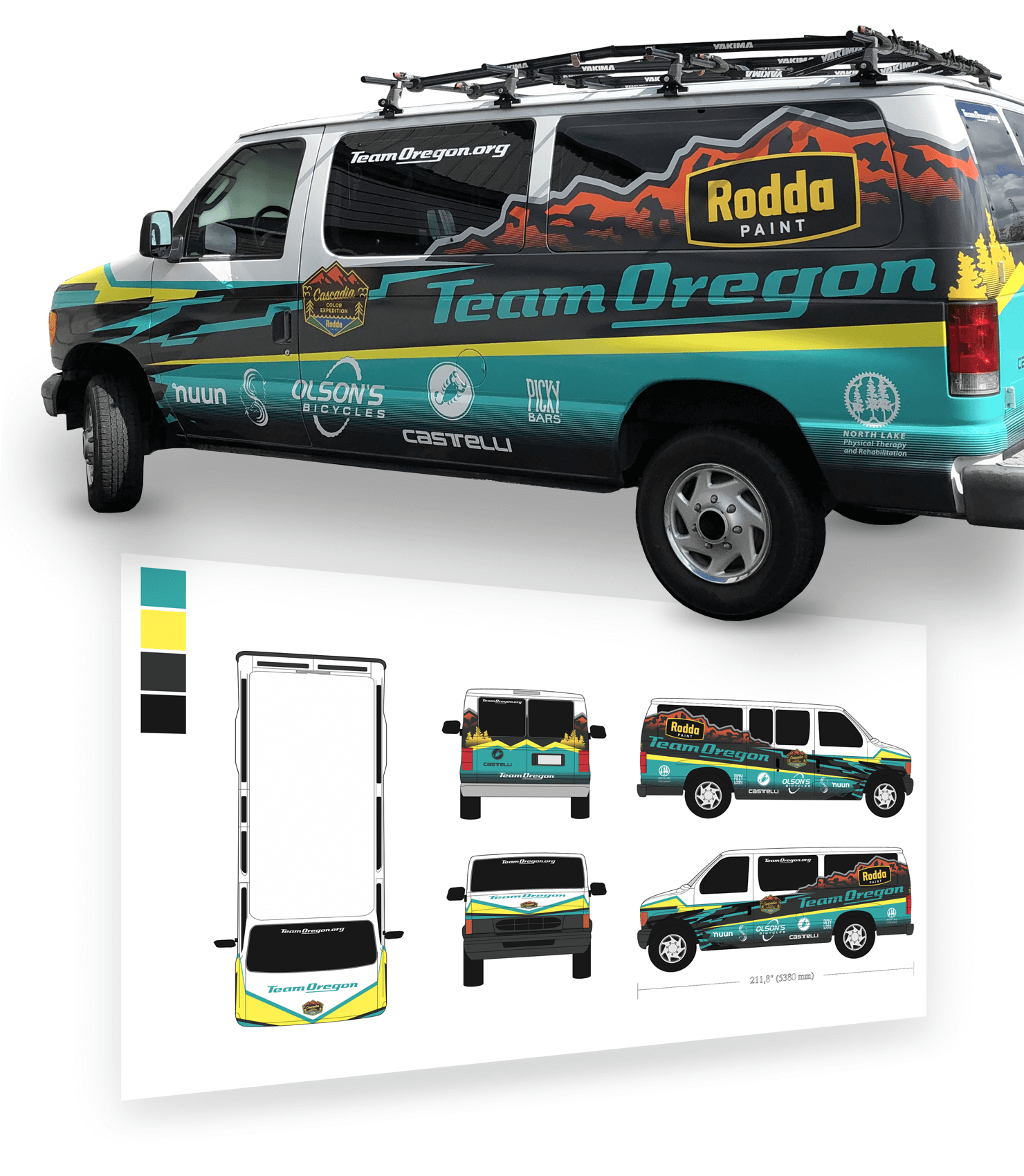 Team Oregon Van Wrap Design